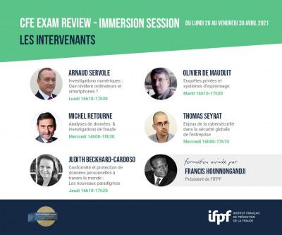 Programme de formation CFE Exam Review - Immersion Session (26/04 au 30/04)