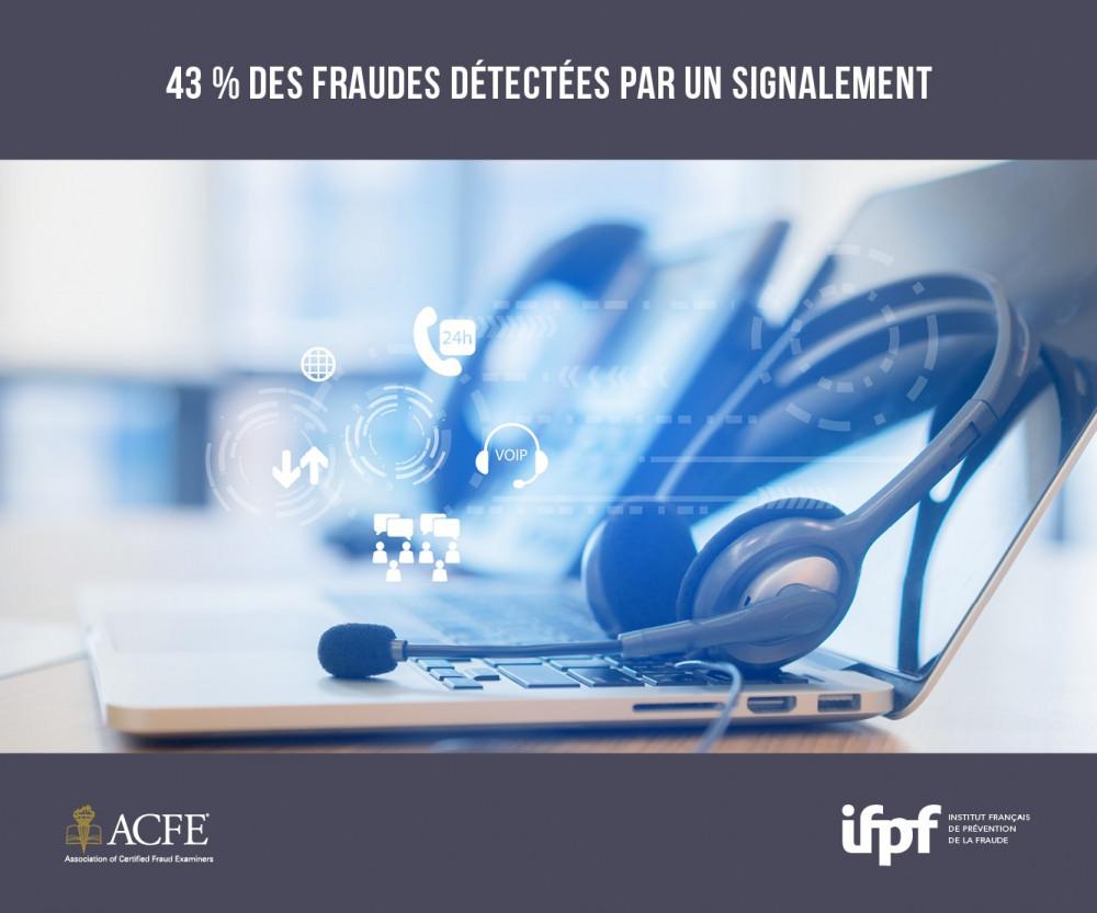 43% des fraudes internes sont détectées par signalement