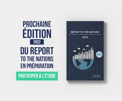 Préparation de l'édition 2022 du Report to the Nations