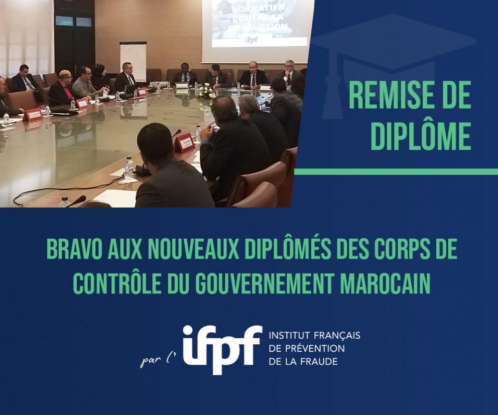 Remise de diplôme pour le gouvernement marocain